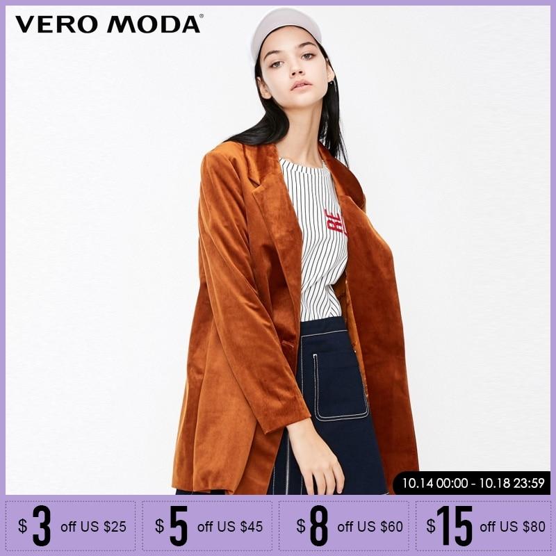 Vero Moda Winter Women OL Loose Fit Lapel Long-sleeved Suit Jacket Blazer |318408504