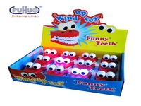 Spring Winding with Eyes Jumping Teeth Light Included Everbright White Teeth Ghost Teeth Halloween Christmas Small Gifts Toy
