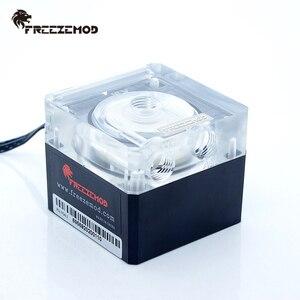 Image 1 - FREEZEMOD Compute Cooling PC Water Cooler Mute ปั๊ม PWM อัจฉริยะกระแสเงินสด 800L/H 12V/5V RGB light Aure. PU FS4M J