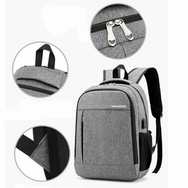Anti-Theft Travel Backpack Bags and Wallets Unisex color: Black|Gray