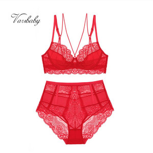 Image 5 - Varsbaby novo estilo francês sexy ultra fino floral rendas roupa interior unlined beleza voltar conjuntos de sutiã
