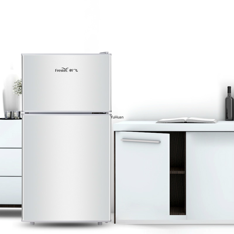 220V 55L 58L 98L 108L Small Refrigerator Tw - Door Freezer Single Double And Three-Door Energy-Saving Home Refrigerator