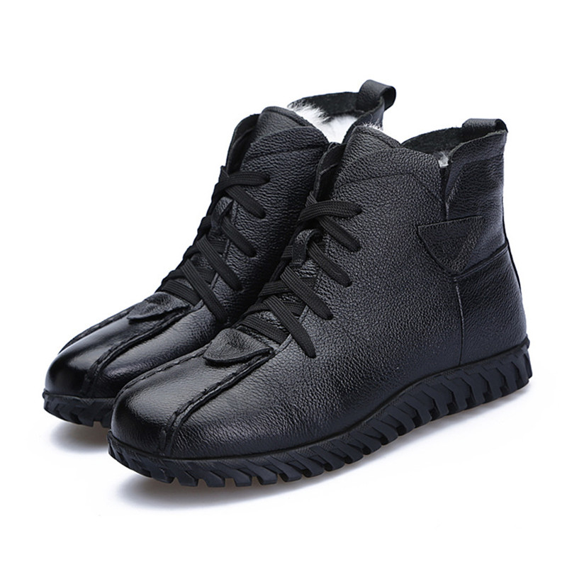 Image 5 - MORAZORA 2020 Russia Newest snow boots genuine leather women ankle boots keep warm wool boots comfortable casual shoes woman-in Ankle Boots from Shoes