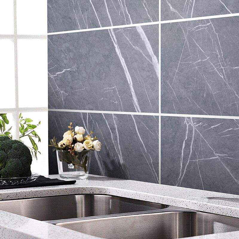 Self-adhesive Marble Floor Tile Wall Sticker PVC Oil-proof Waterproof For Home Living Room Bedroom Kitchen Bathroom DLS-04