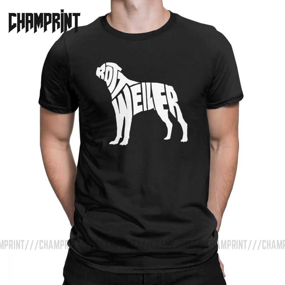 Men <font><b>T</b></font>-<font><b>Shirts</b></font> Rottweiler Dog Puppy <font><b>Seanings</b></font> Vintage Cotton Tee Typography Pet Animal Cute <font><b>T</b></font> <font><b>Shirts</b></font> Clothing Gift Idea Plus Size image