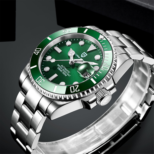 2021 PAGANI Design New 40mm Men Luxury Automatic Mechanical Wrist Watch Men Stainless Steel Waterproof Watch Relogio Masculino 3