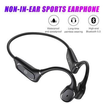 Bluetooth Bone Conduction Earphones Wireless Headphones Outdoor Non-in-ear Sport Headset with Mic Ha