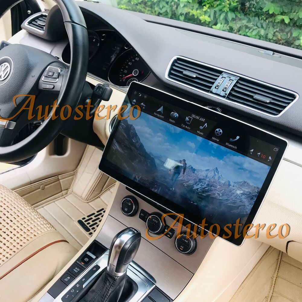 12.8 inch <font><b>Android</b></font> 9.0 64+4G Car <font><b>GPS</b></font> navigation For VW/Toyota/Nissan/Ford/KIA/Hyundai/BMW <font><b>2</b></font> <font><b>Din</b></font> <font><b>Radio</b></font> Universal Multimedia Player image