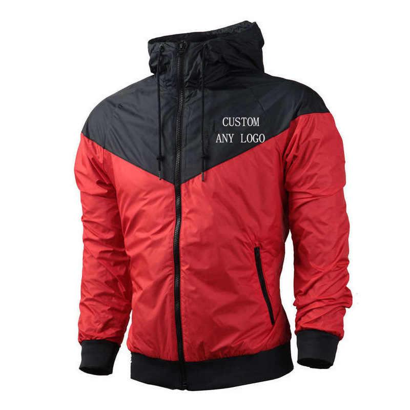Jesienno-zimowa męska bluza z kapturem modna, patchworka dresowa kurtka Fitness do biegania wspinaczka na co dzień luźna odzież sportowa