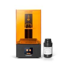 LONGER Orange10 3d принтер доступный SLA 3D печать умная поддержка быстрая нарезка УФ свет отверждения легко работать входной уровень