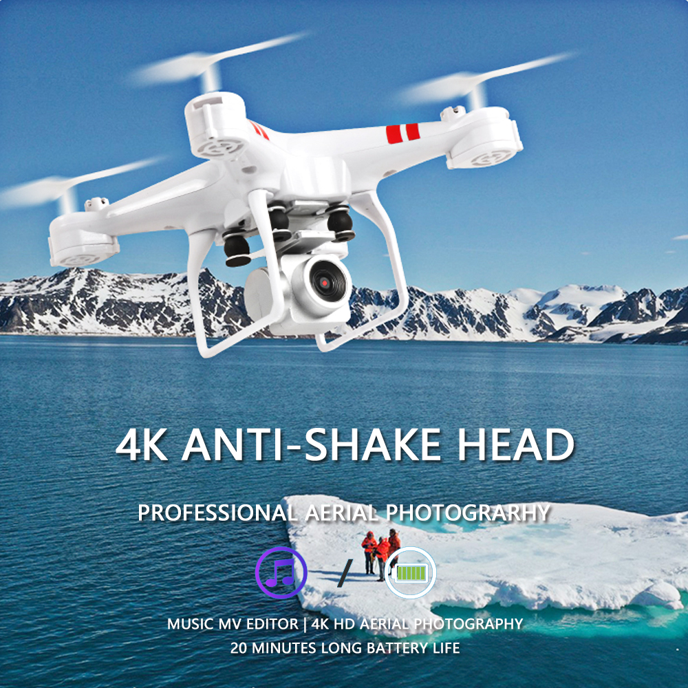 2019 New Drone 4k camera HD Wifi transmission fpv drone air pressure fixed height four axis aircraft rc helicopter with camera-in RC Helicopters from Toys & Hobbies