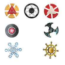 Alloy Fingertip Gyro Toys Fidget Hand Spiner Spiral Fidget Spinner Superman Shield Desktop Anti Stress Finger Game Beyblade fingertip gyro finger spiral stainless steel hybrid ceramic bearings 606 608 686 688 695 699 626 s r188 for hand spinner 2pcs