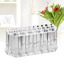 26 Holes Clear Acrylic Cosmetic Makeup Brush Holder Drying Rack Stand Organizer Shelf