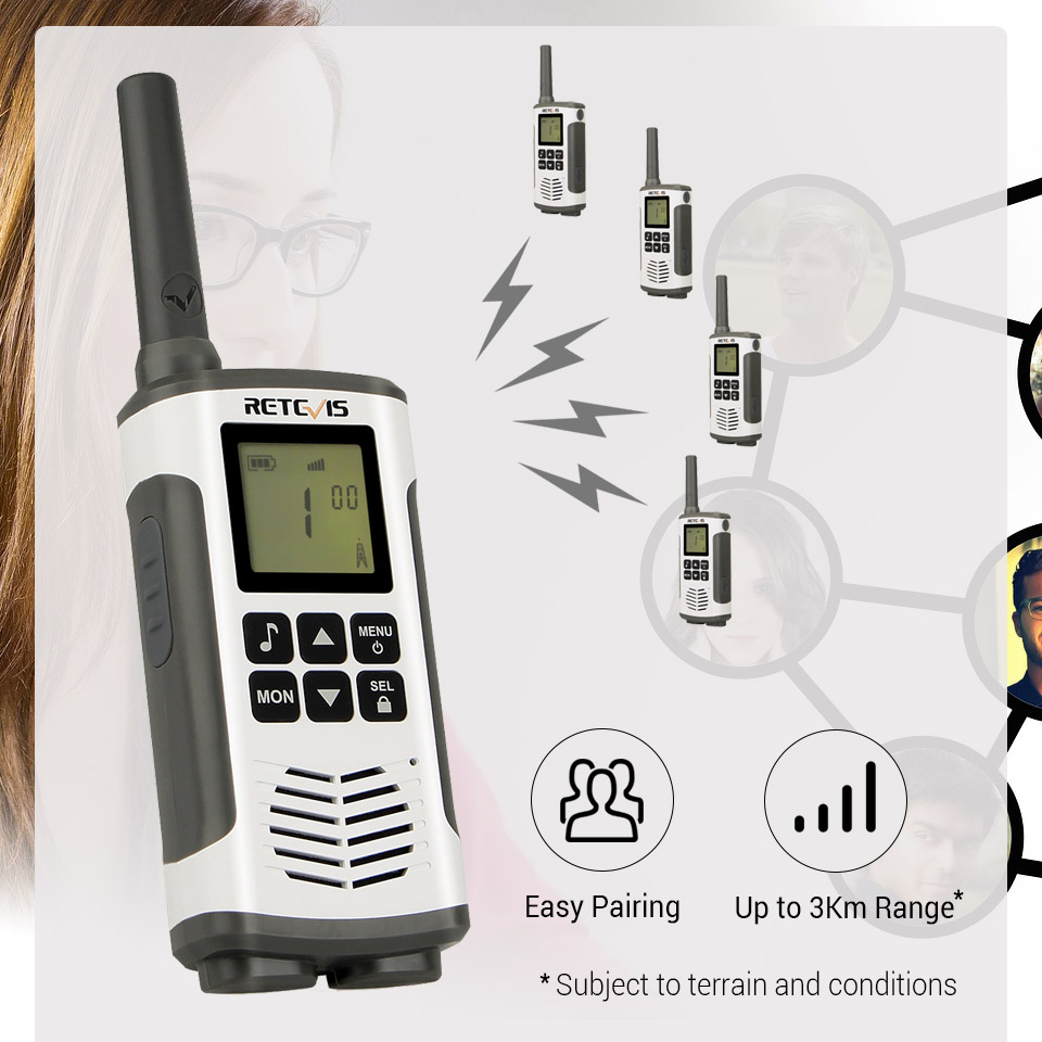 Walkie Two RETEVIS PMR 4