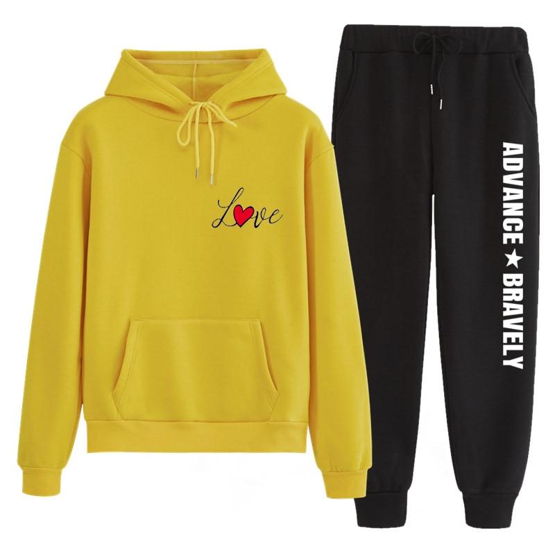 N81 tamanho grande agasalho feminino conjunto de duas peças hoodies calça roupas quentes conjunto de malha calças superiores terno feminino conjunto feminino conjunto feminino