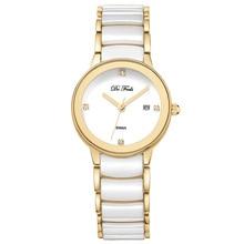 цена на 2019 Montre Femme Modern Women Watch Fashion Quartz Wristwatch Simple Ceramic Gold Watches Top Brand Luxury Ladies Reloj Mujer