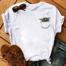 New Baby Yoda Mandalorian Cute Anime T Shirt Men Women Bebe Yoda Funny Cartoon T-shirt Kawaii