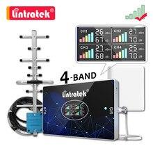 Lintratek dört bantlı hücresel amplifikatör B20 800 900 1800 2100 2600 LTE GSM 2G 3G 4G sinyal güçlendirici B28 700 850MHZ tekrarlayıcı kiti