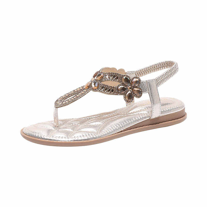 2020 Women Sandals Bohemia Women Casual Shoes Sexy Beach Summer Girls Flip Flops Gladiator Fashion Flats Sandals X9X2077