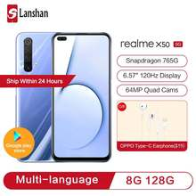 In Stock realme X50 Dual Mode 5G Youth Flagship Snapdragon 765G 120Hz Fluid Screen 64MP Zoom Quad Ca