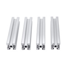 4pcs/lot 2020 Aluminum Profile Extrusion 100mm to 800mm Length Linear Rail 200mm 400mm 500mm for DIY 3D Printer Workbench CNC