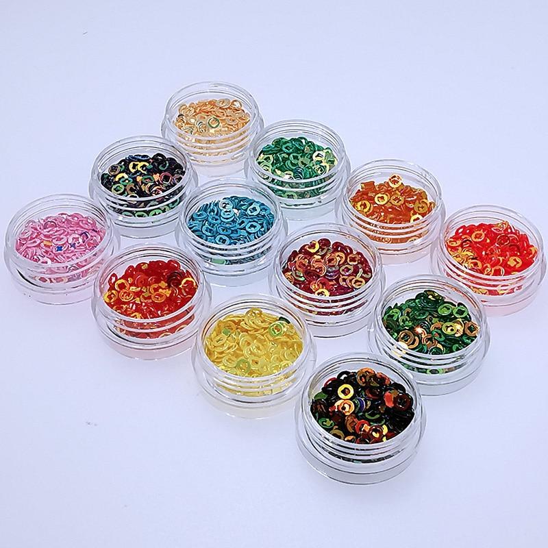 12 Pcs/Set DIY Handmade Crafts Epoxy Resin Tools Glittering Powder Glow Shiny Sequins Filling Materials Filler Nail Manicure Mak