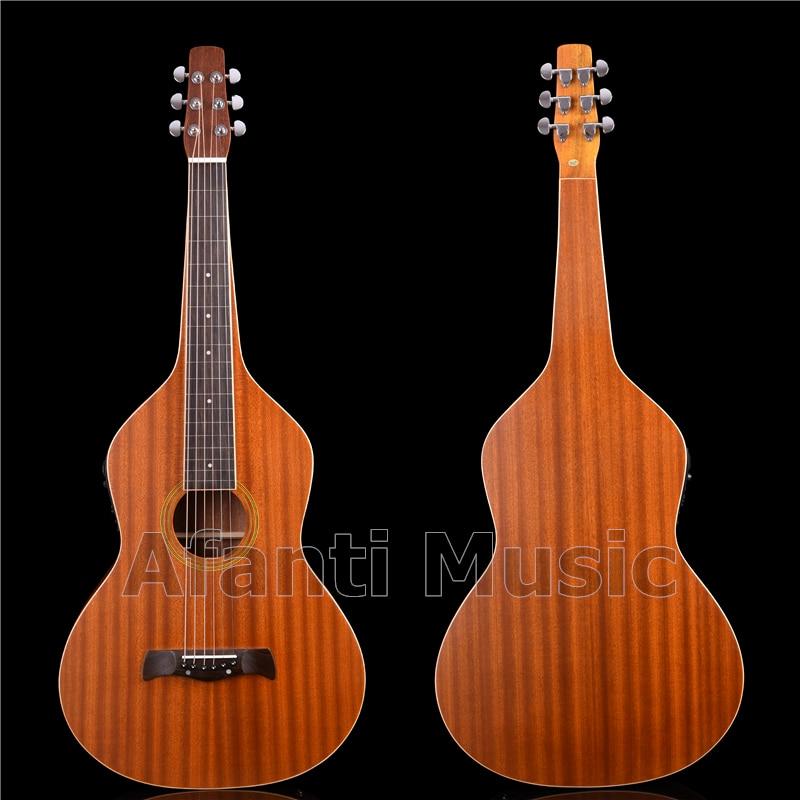 Afanti Music All Sapele madera Weissenborn Hawaiano tobogán guitarra (HG-520)