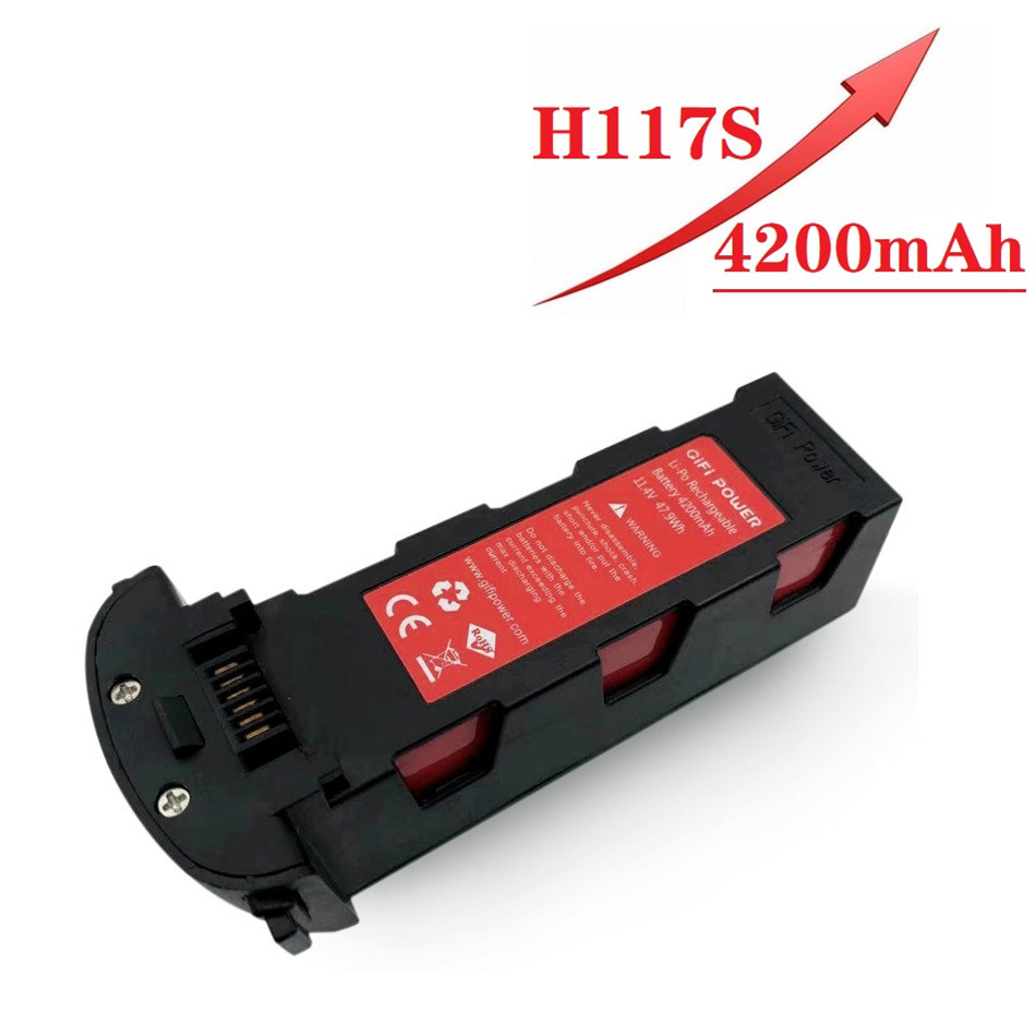 Upgrade 11.4v 4200mAh Battery For Hubsan H117S Zino GPS RC Quadcopter Spare Parts 11.4V Battery For RC FPV Racing Camera Drones