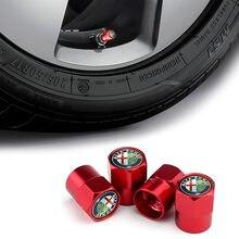 4 pçs carro-estilo do carro roda pneu válvula tampas de pneus caso para alfa romeo 159 147 156 166 giulietta giulia mito aranha acessórios do carro