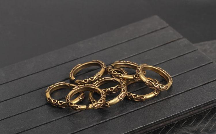 copper key rings (4)