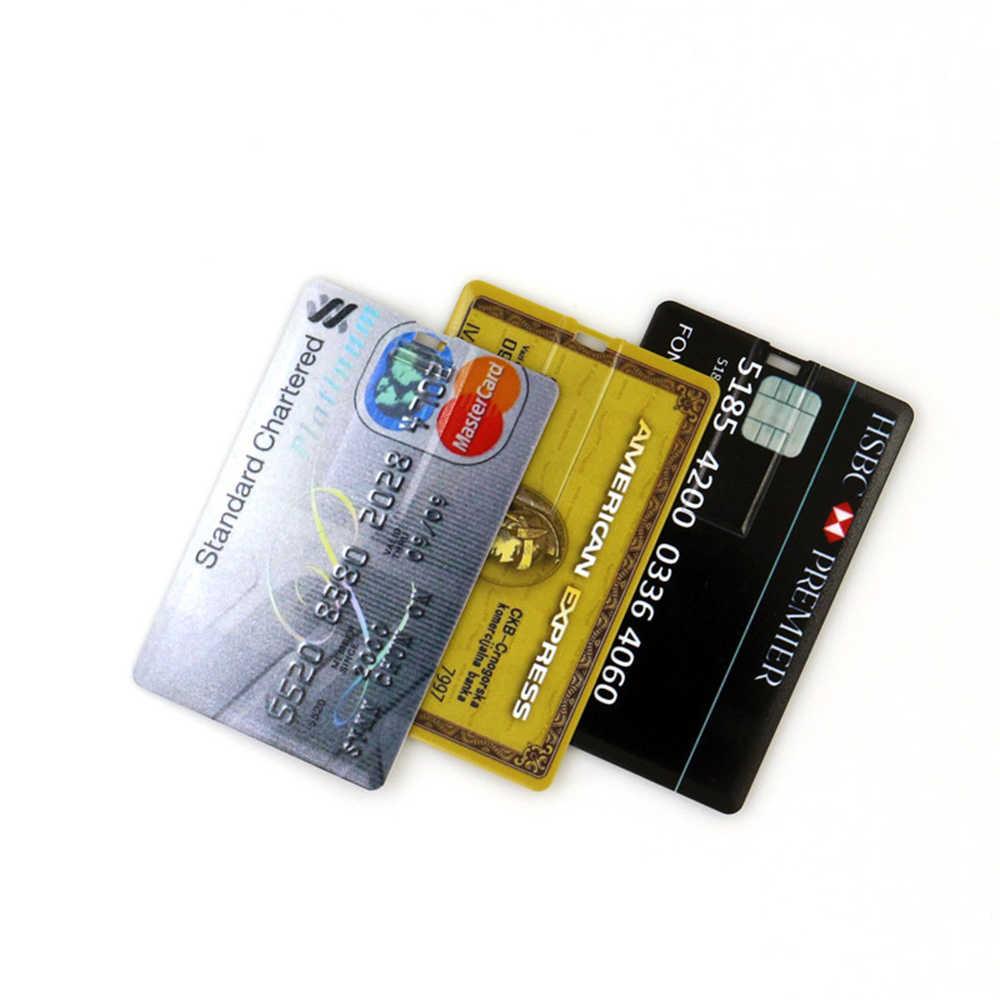 بطاقة الائتمان فلاشة مزودة بفتحة يو إس بي 8 جيجابايت 128 جيجابايت 16 جيجابايت cle USB 2.0 فلاش عصا 32 جيجابايت فلاش ميموري للتخزين عصا 64 جيجابايت بندريف القدرة الحقيقية ذاكرة يو إس بي على شكل مفتاح