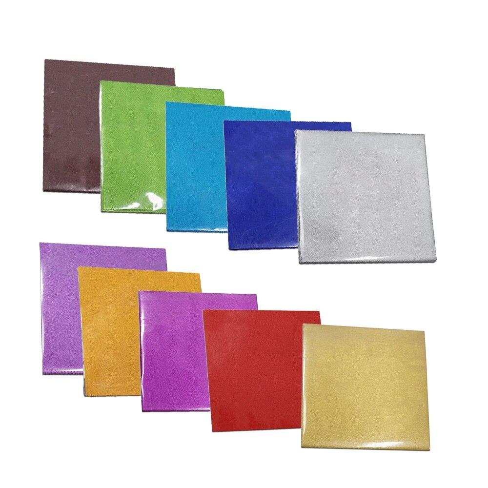 500 pçs/lote colorido chocolate doces embrulhando papel de lata diy pacote de alimentos folha de alumínio pacote presentes decoração papel
