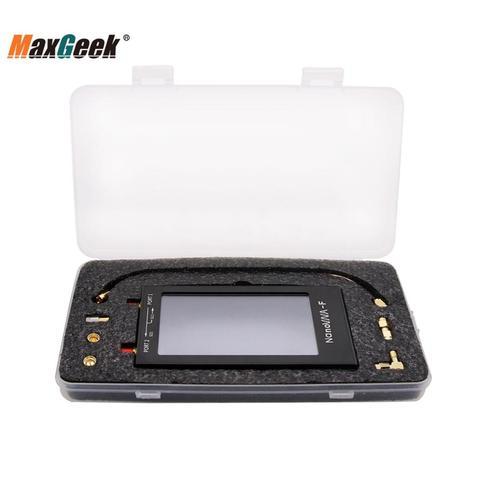Caixa de Metal Mhz com 4.3 Maxgeek Vna Vector Rede Analisador Kit 50 Khz-1000 Display Lcd Nanovna-f Max-4.3 hf Vhf Uhf