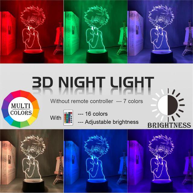 16 COLOR WITH REMOTE HUNTER X HUNTER 3D LED LAMP (11 VARIAN)