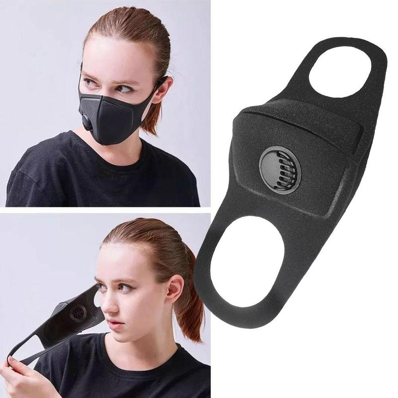 1 PCS Dust Mask Outdoor Riding Sunscreen Anti-fog Activated Carbon Mask Dust-proof Breathing Valve Sponge Mask