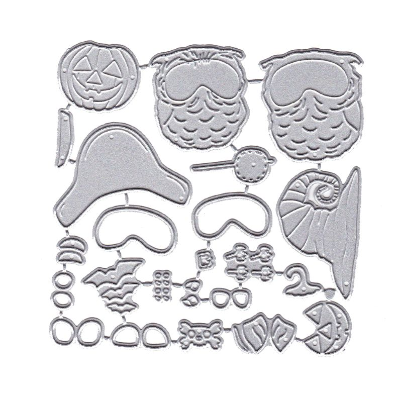 Happy <font><b>Halloween</b></font> Owl Metal Cutting <font><b>Dies</b></font> Stencil DIY Scrapbooking Album <font><b>Stamp</b></font> image
