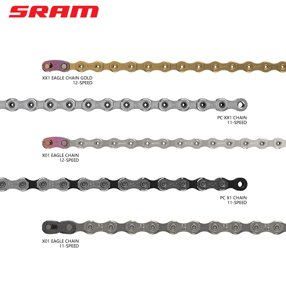 SRAM 11/12 Speed Chain PC-1110  PC-X1 PC-XX1 PC-RED22 PC-X01 MTB & Road Bicycle Chain 114/116/118/126 Links Mountain Bike Parts
