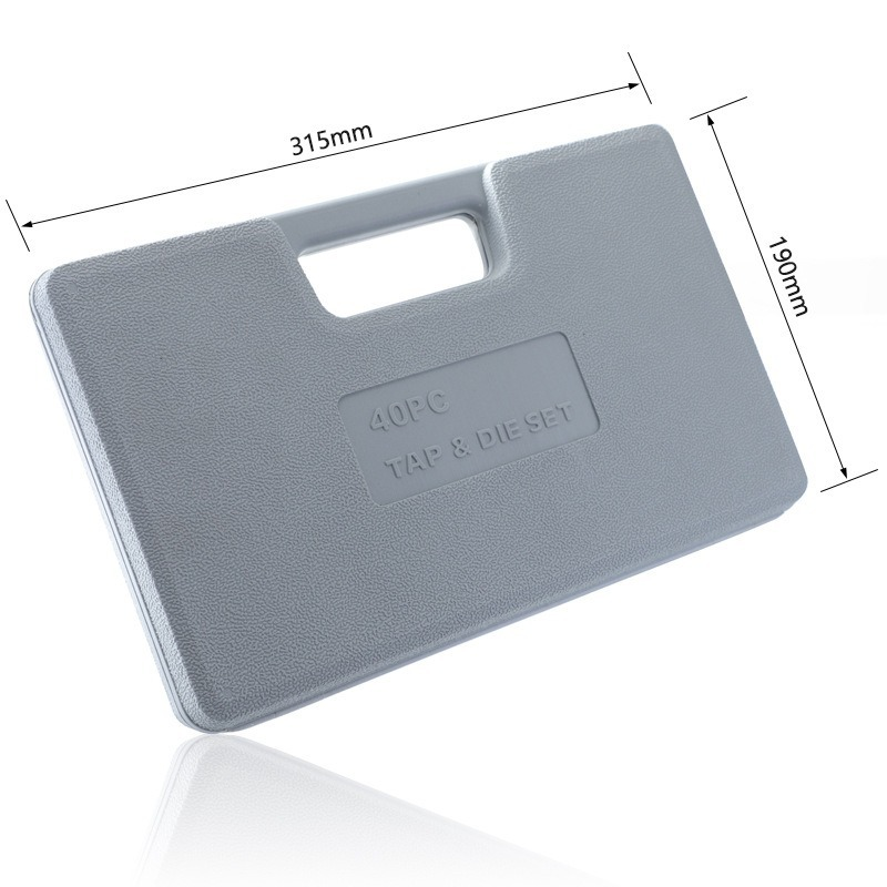 Купить с кэшбэком 40 in1  of inch taps and mold round plate teeth hand-precision alloy steel combination high-grade plastic packaging box tools
