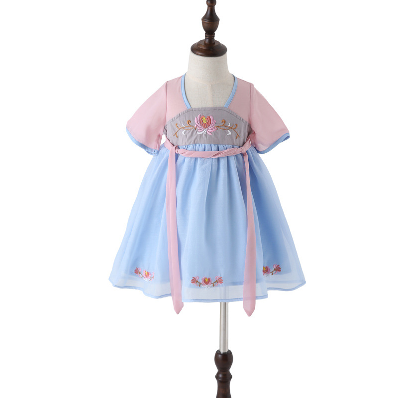 Children Chinese Clothing Summer Girls Chinese Costume Improved Chinese Clothing Jacket Skirt Little Girl Immortal Dress Wind Ch
