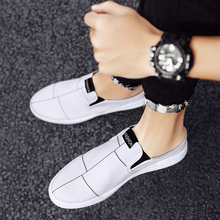 Heelless Canvas Slippers Male 2020 Summer New Korean Trend Students All-match One Pedal Lazy Half Sneaker