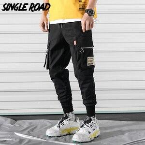 Pantalones Cargo para hombre SingleRoad 2020 con bolsillos a la cadera Hop, ropa informal japonesa, pantalones Harem, pantalones para hombre, pantalones de chándal para hombre