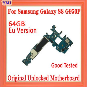 For Samsung Galaxy S8 G950F Original unlocked Motherboard 64GB,with Android System EU Version for Galaxy S8 G950F Mainboard