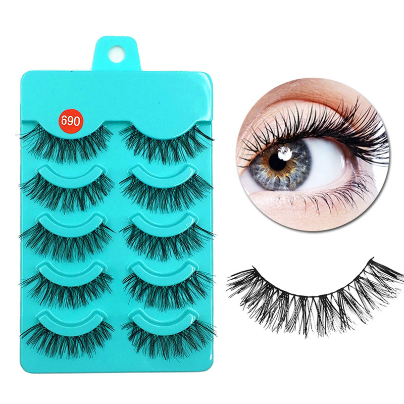 5 Pairs Natural Thick False Eyelashes Beauty Women Eye Extension Multi-types Black False Eyelash