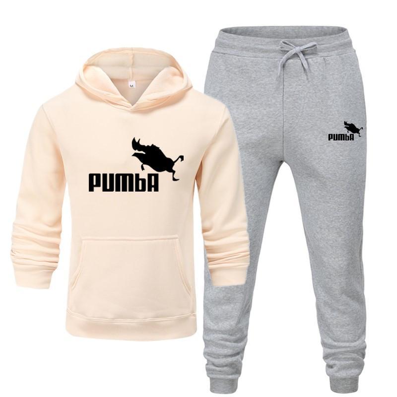 New Pumba Two Pieces Hoodie Batman Hooded Men Casual Cotton Fall / Winter Warm Sweatshirts Men's Casual Tracksuit Costume S-XXXL 3