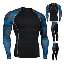 Winter high quality new thermal underwear mens set compression fleece quick-drying clothing
