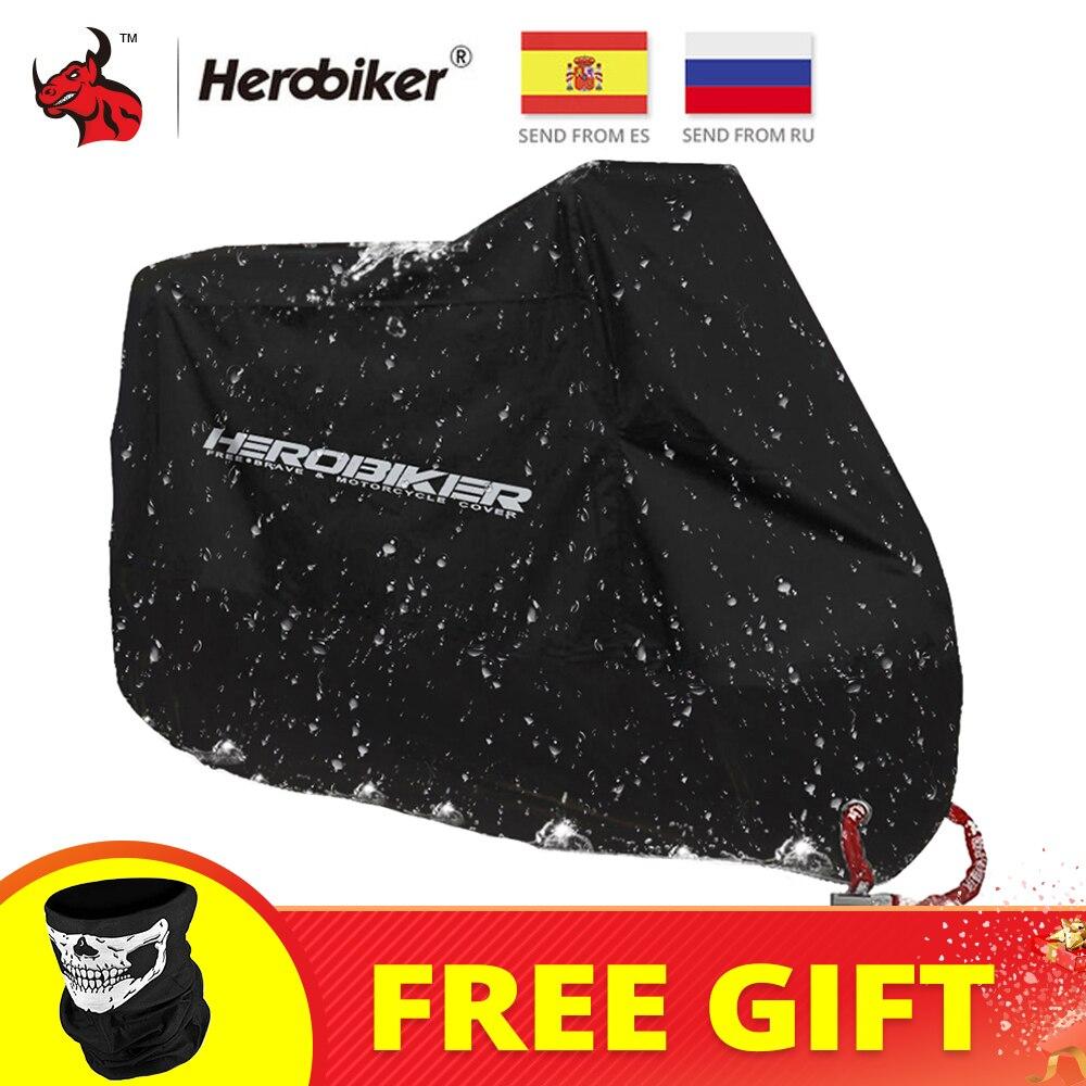 HEROBIKER pokrowiec na motocykl rower cały sezon wodoodporna pyłoszczelna ochronna UV Outdoor Indoor Moto skuter motocykl osłona przeciwdeszczowa|motorcycle waterproof motorbike rain|cover allcover design -