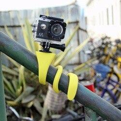 Bananowa Pod elastyczną ośmiornicą Mini kamera sportowa mocowanie do statywu Selfie Stick dla Gopro Hero5 4 3 + sesja xiao mi Yi SJCAM dla iPhoneX w Statyw mikrofonowy od Elektronika użytkowa na