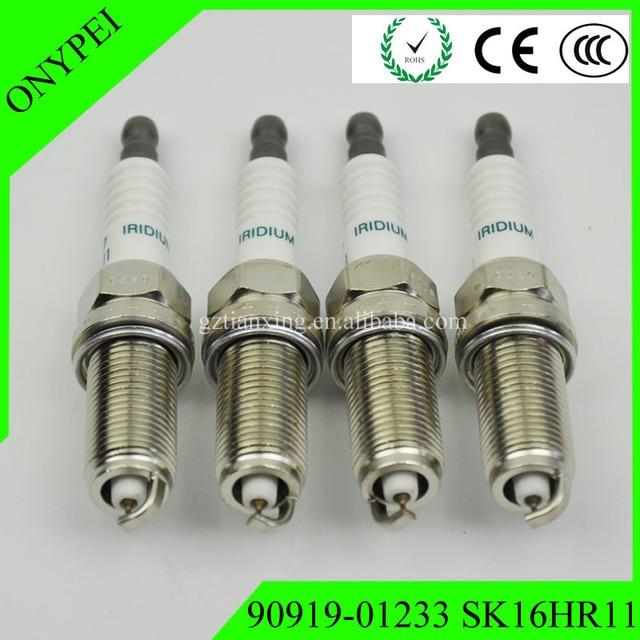 90919 01233 SK16HR 11 Gratis Verzending 9091901233 SK16HR11 Iridium Bougie Voor Toyota Camry RAV4 Scion Tc 90919 01233 SK16HR 11