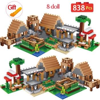 цена на 21128 My World Ghost Village Building Blocks Compatible City bricks  Castle Village Series Toys For kids
