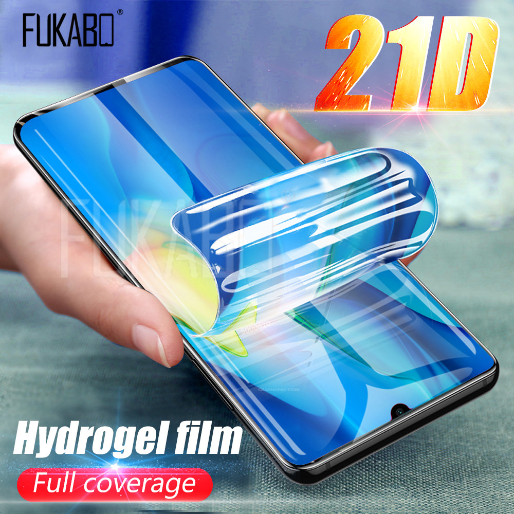 21D Screen Protector For Huawei P30 Pro P20 Lite Pro P Smart 2019 Hydrogel Film For Huawei Mate 20 Lite Mate 10 Pro Soft Film